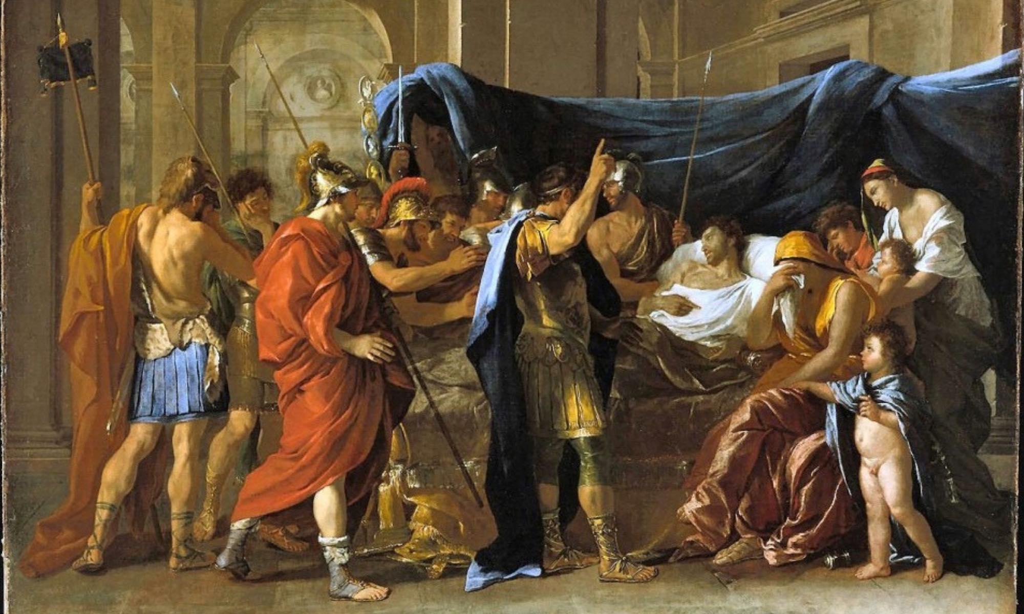 Quadro del pittore Nicolas Poussin che rappresenta la morte del generale Germanico