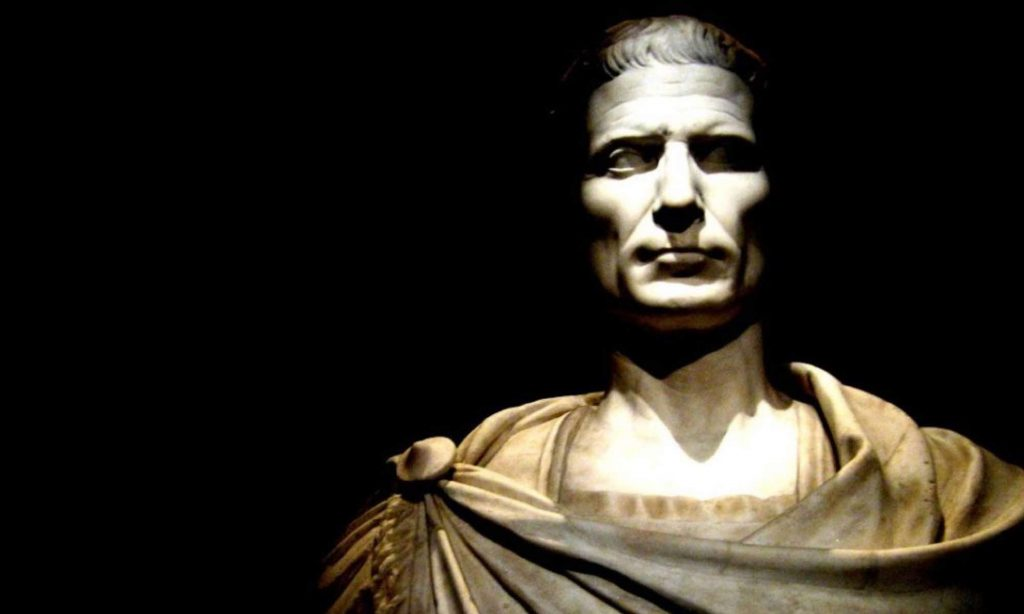 Busto marmoreo di Giulio Cesare