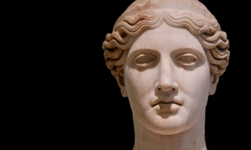 Busto della dea Giunone, Hera in greco, al museo archeologico di Napoli
