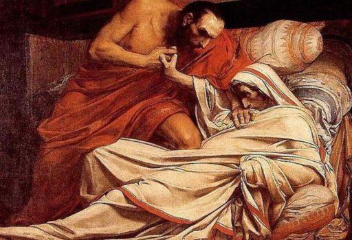 Morte di Tiberio di Jean Paul Laurens, olio su tela oggi al Musée Paul-Dupuy, Toulouse