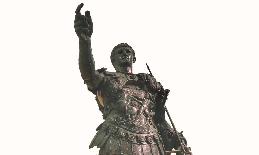 Statua bronze di Germanico Cesare nel Museo Archeologico di Amelia