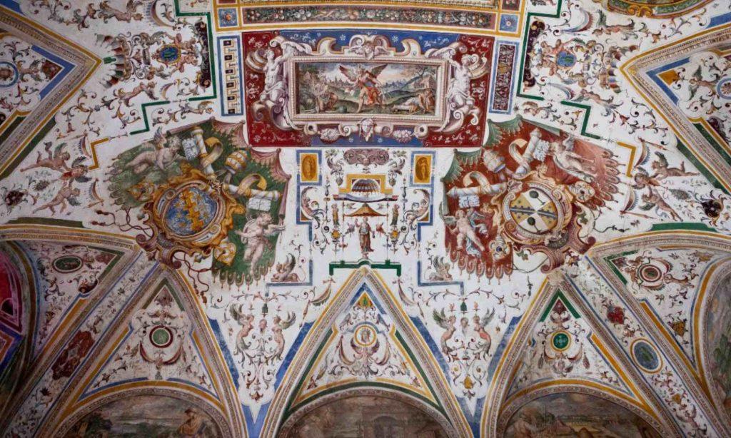 Affresco rinascimentale della Sala dello Zodiaco al Palazzo Petrignani di Amelia