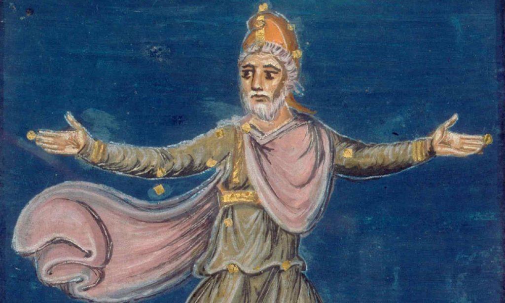 Icona da manoscritto medievale che rappresenta la costellazione di Cefeo