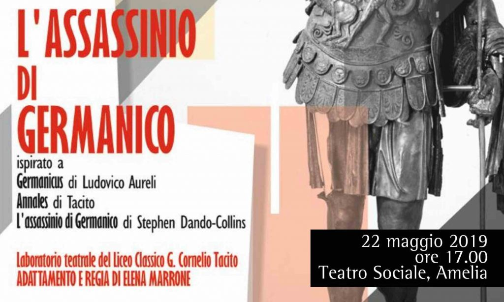 "Locandina del laboratorio teatrale ""L'assassinio di Germanico"""