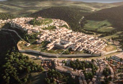 Ricostruzione in 3D di Amelia al tempo di Roma