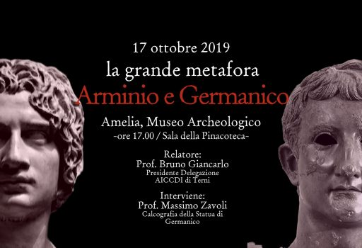 Locandina evento Arminio e Germanico