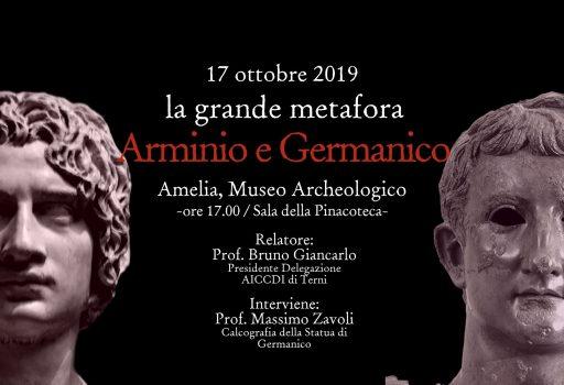 Locandina evento Arminio e Germanico