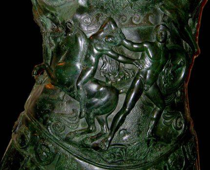 L'agguato di Achille a Troilo nella lorica del Germanico